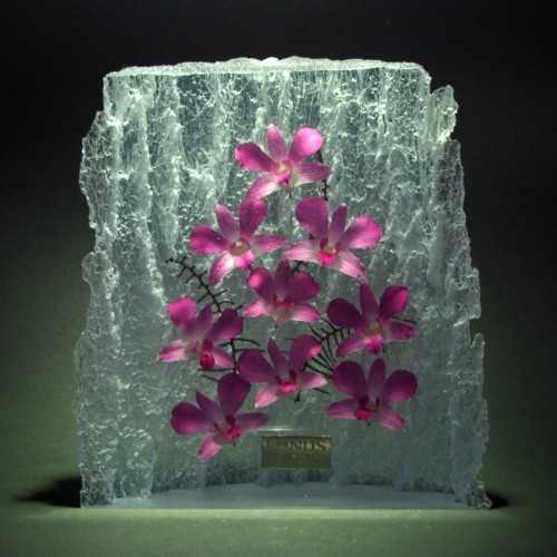 Acrylic Embedded Orchid Souvenirs